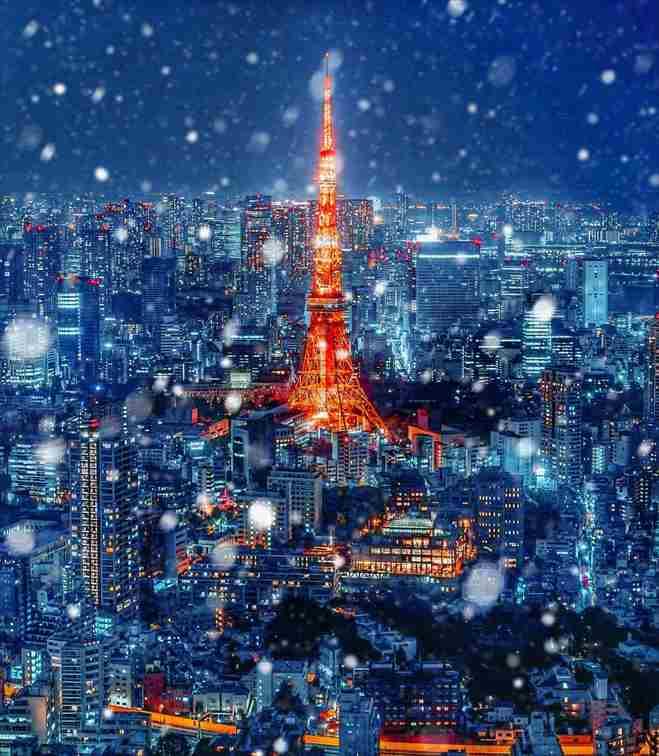 六本木から見える東京タワー