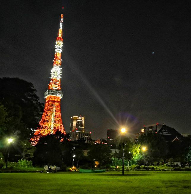 夜の芝公園