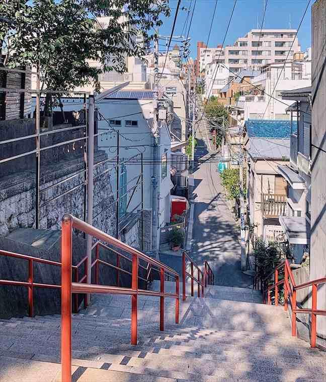 三葉と瀧が再会を果たす階段