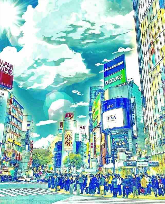 『天気の子』映画舞台_スクランブル交差点(渋谷駅)