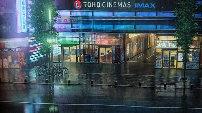 『天気の子』映画舞台_新宿東宝ビル前